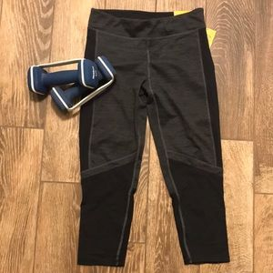 Champion grey and black capri workout pants